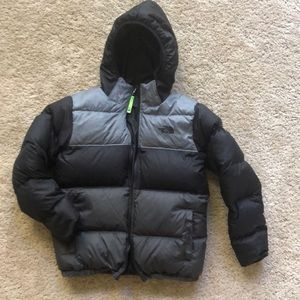 Boys Large The North Face Reversible Puffer Jacket